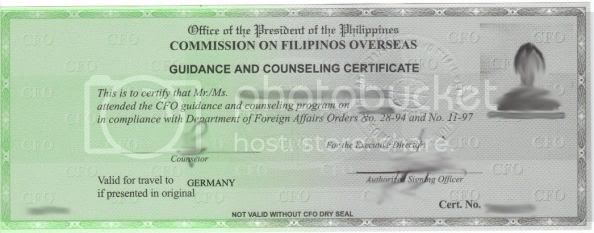 CFO Guidance and Counselling Certificate, U.S. Immigration, U.S Visa