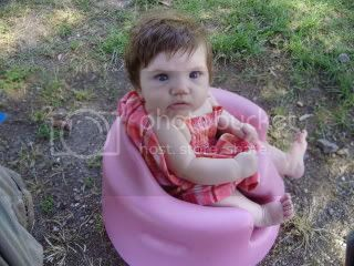 Sarah in her Bumbo